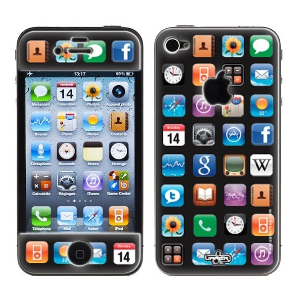 coque 3d iphone 4 4s applications upperbag. Black Bedroom Furniture Sets. Home Design Ideas