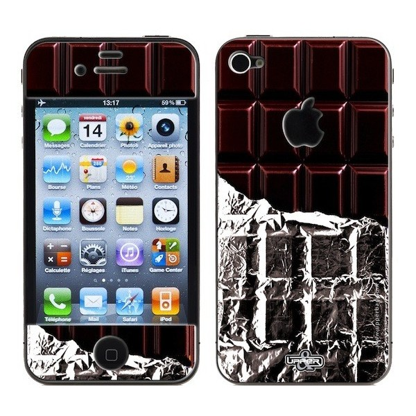 fr coqueskin d pour iphone s  coque sweety chocolate dark