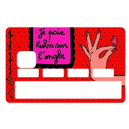 Sticker CB Valérie Nylin Je Paie Rubis Sur L'ongle