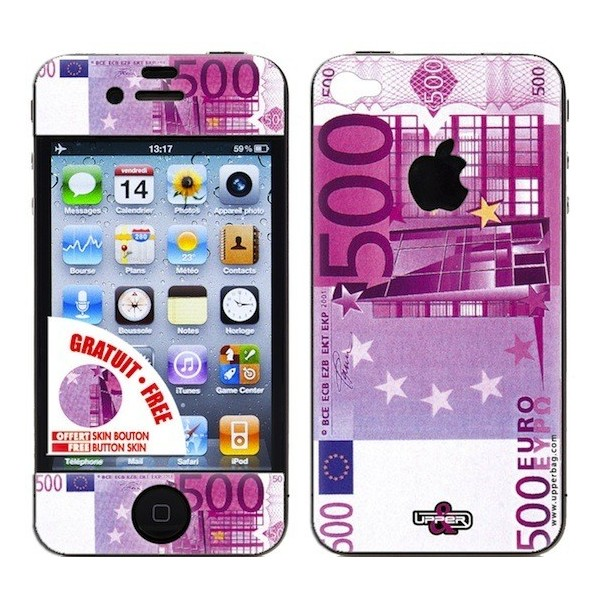 Coque 3d iphone 4 4s 500 euros upperbag for Cuisine 3d pour iphone
