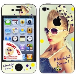 Coque 3D iPhone 4/4S Beautiful Pin Up