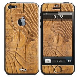 Coque 3D iPhone 5C Earth Wood