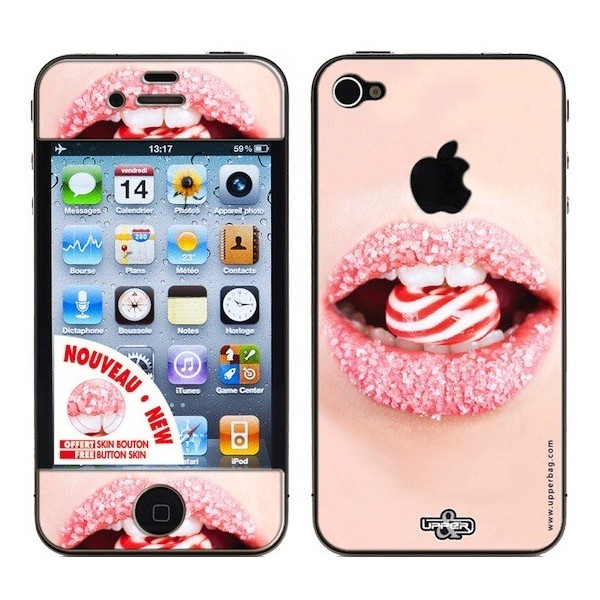 Coque 3d iphone 4 4s candy lips upperbag for Cuisine 3d pour iphone