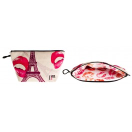 Trousse Toilette Réversible Paris Pink