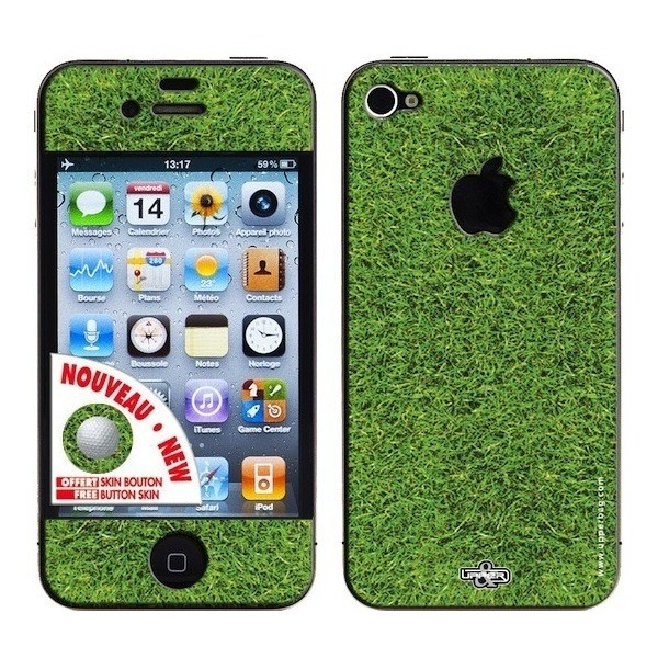 Skin 3D iPhone 4/4S Earth Golf Grass