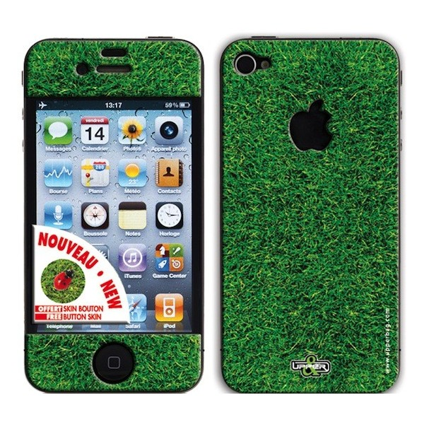 Coque 3D iPhone 4/4S Earth Lucky Grass