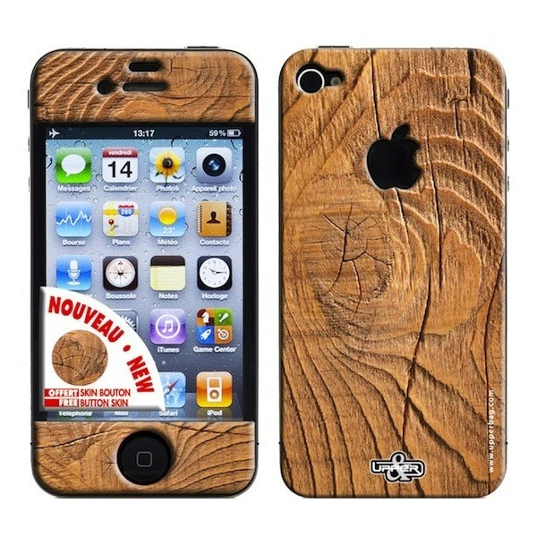Skin 3D iPhone 4/4S Earth Wood