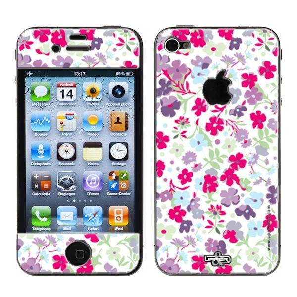Coque 3D iPhone 4/4S Liberty White