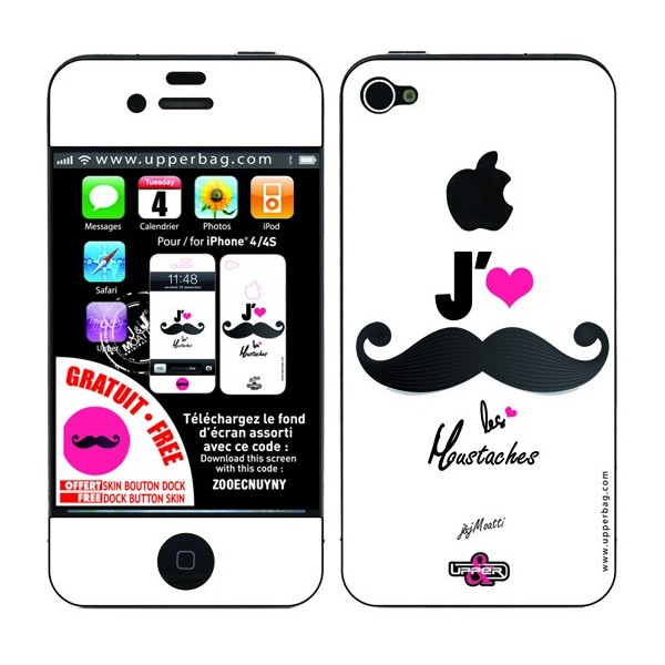 Skin 3D iPhone 4/4S Moatti Moustaches ça Frise