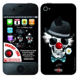 Skin 3D iPhone 4/4S Moatti Skull Clowny