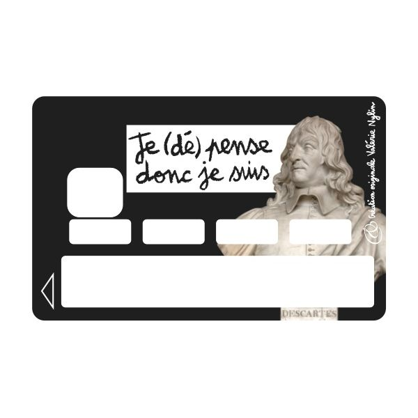Sticker CB Valérie Nylin Depenses Decartes Black