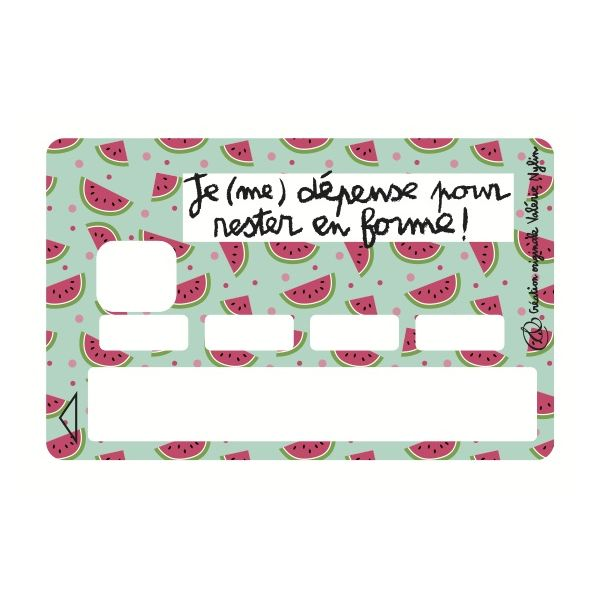 Sticker CB Valérie Nylin Depense Forme Pasteque Green