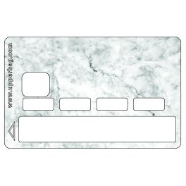 Sticker CB Marble White