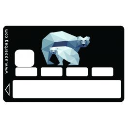 Sticker CB Geometric Winter White Bear