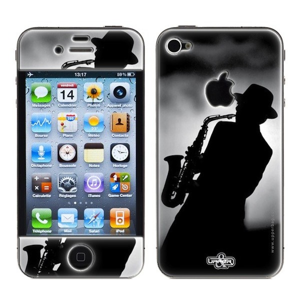 Skin 3D iPhone 4/4S Music Jazz Men