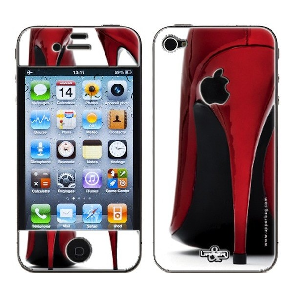 Skin 3D iPhone 4/4S Shoes Red