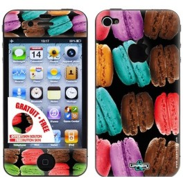 Coque 3D iPhone 4/4S Sweety Big Macarons