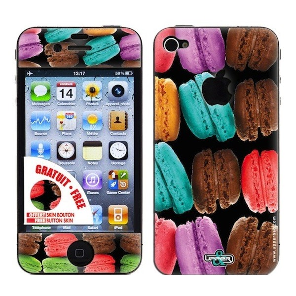 Coque 3d iphone 4 4s sweety big macarons upperbag for Cuisine 3d pour iphone