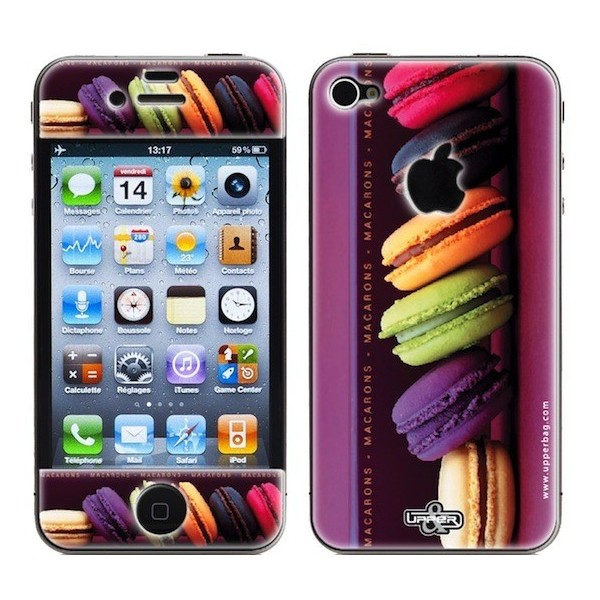 Coque 3d iphone 4 4s sweety macarons 1 upperbag for Cuisine 3d pour iphone