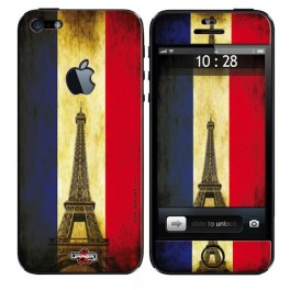 Coque 3D iPhone 5 French Flag Vintage