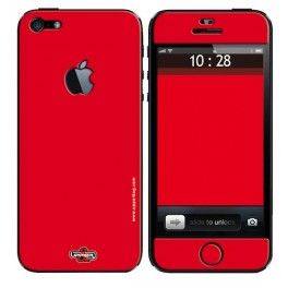 Skin 3D iPhone 5 Full Red