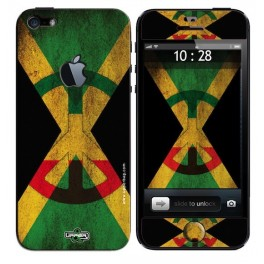Coque 3D iPhone 5 Jamaican Flag Vintage
