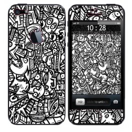 Coque 3D iPhone 5 Jigé BW Scary Flower