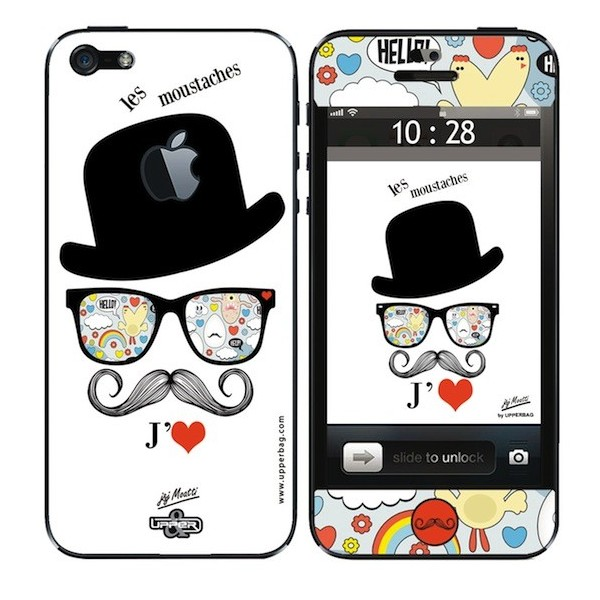 Skin 3D iPhone 5 Moatti Moustaches Charly
