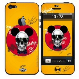 Skin 3D iPhone 5 Moatti Skull Mousse Yellow End