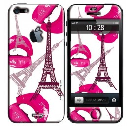 Skin 3D iPhone 5 Paris Pink