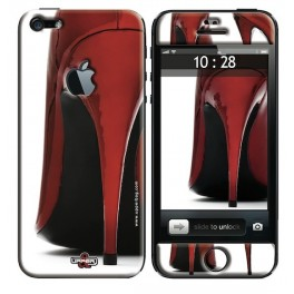 Coque 3D iPhone 5 Shoes Red