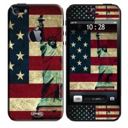 Skin 3D iPhone 5 USA Flag Vintage & Liberty
