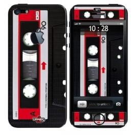 Skin 3D iPhone 5 Vintage Music K7 Red