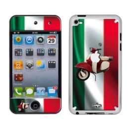 Coque 3D iPod Touch 4 Italia Flag & Vespa