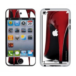 Coque 3D iPod Touch 4 Shoes Red