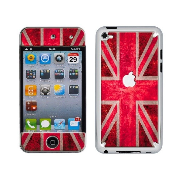Skin 3D iPod Touch 4 UK Flag Vintage & Red
