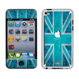 Skin 3D iPod Touch 4 UK Flag Vintage & Turquoise