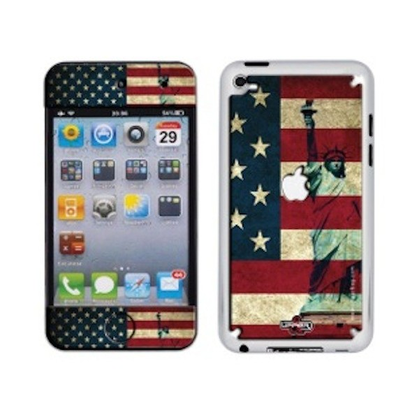 Coque 3D iPod Touch 4 USA Flag Vintage & Liberty