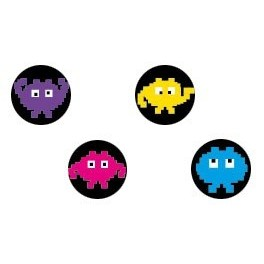 Pack of 4 docks Pac Man