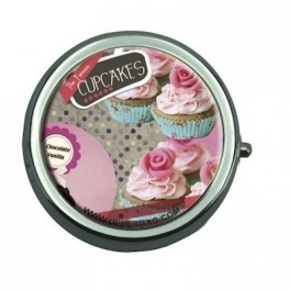 Pill Box Sweety Cupcakes Vintage Black
