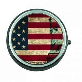 Pill Box USA Flag Vintage & Liberty