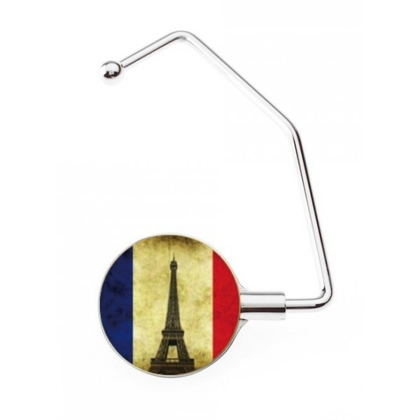Accroche sac Pro French Flag Vintage