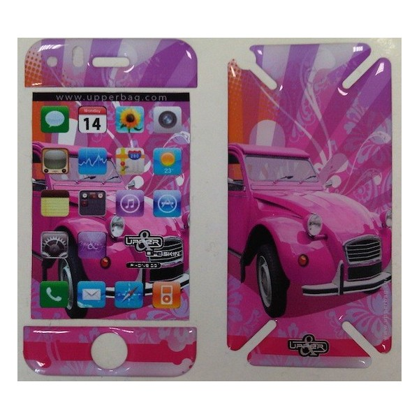 Skin 3D iPhone 3G/3GS Retro 2 CV Pink
