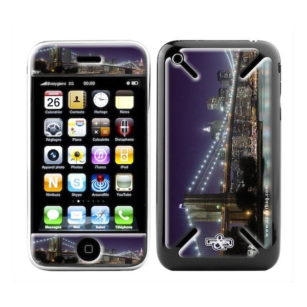 Coque 3D iPhone 3G/3GS USA Brooklyn