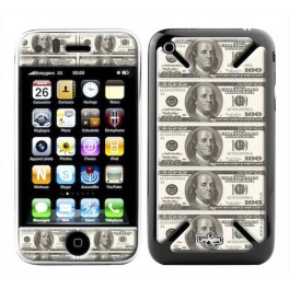 Coque 3D iPhone 3G/3GS USA Dollars