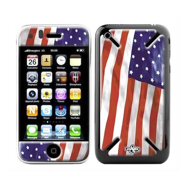 Skin 3D iPhone 3G/3GS USA Flag
