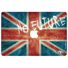 Cover MacBook UK Flag Vintage & No Future
