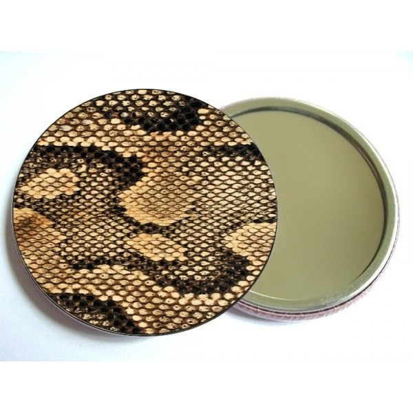 Pocket Mirror Jungle Snake Gold