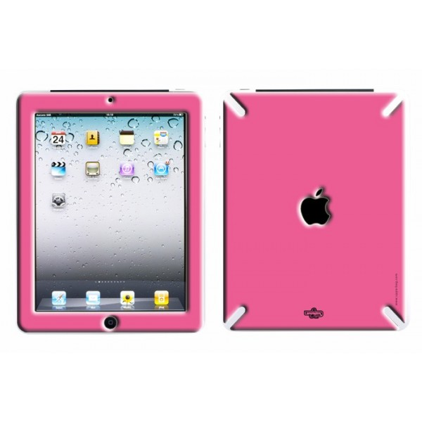 Coque 3D iPad 1 Full Pink