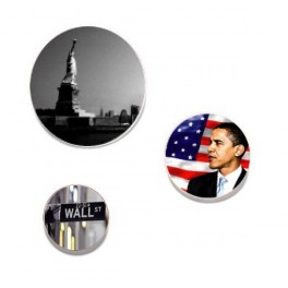 Badges pack USA 1B